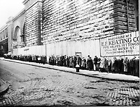 Bread Line Beside the Brooklyn Bridge, ca. 1930s by OWI (LOC)