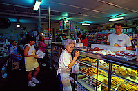 Komoda's Bakery, a long-standing, famous local bakery in Maui's paniolo or cowboy town of Makawao, is known for their famous creampuffs.