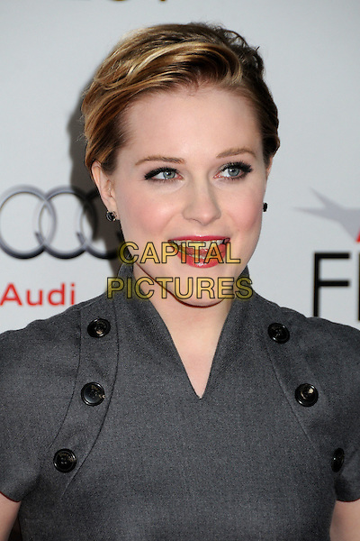 Evan Rachel Wood.AFI Fest 2011 - Los Angeles Time Young Hollywood Panel held at Grauman's Chinese Theatre, Hollywood, California, USA..November 4th, 2011.headshot portrait grey gray black buttons mouth open tongue .CAP/ADM/BP.©Byron Purvis/AdMedia/Capital Pictures.