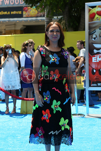 "Maya Rudolph<br /> at the premiere of ""The Emoji Movie,"" Village Theater, Westwood, CA 07-23-17<br /> David Edwards/DailyCeleb.com 818-249-4998"