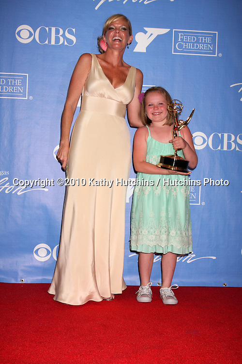 Maura West, Daughter Kate.in the Press Room at the 2010 Daytime Emmy Awards .Las Vegas Hilton Hotel & Casino.Las Vegas, NV.June 27, 2010.©2010 Kathy Hutchins / Hutchins Photo....