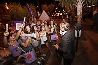 BELO HORIZONTE, MG, 28.09.2013 - MISS BRASIL 2013 – Manifestação durante a final do concurso Miss Brasil 2013, no Minascentro em Belo Horizonte, na noite desta Sábado, (28) (Foto: Marcos Fialho / Brazil Photo Press).
