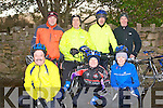 JIMMY DUFFY: Taking part in the Jimmy Duffy memorial cycle at Blennerville on Saturday front l-r: Paul Byrne, Brendan Conway and Carmel O'Connor. Back l-r: Brendan O'Connor, James O'Connor, Geroge Poff and Maurice Hanafin.