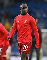 Liverpool's Sadio Mane during the prematch warmup<br /> <br /> Photographer David Horton/CameraSport<br /> <br /> The Premier League - Brighton and Hove Albion v Liverpool - Saturday 12th January 2019 - The Amex Stadium - Brighton<br /> <br /> World Copyright © 2018 CameraSport. All rights reserved. 43 Linden Ave. Countesthorpe. Leicester. England. LE8 5PG - Tel: +44 (0) 116 277 4147 - admin@camerasport.com - www.camerasport.com
