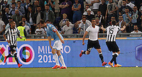 Calcio, finale Tim Cup: Juventus vs Lazio. Roma, stadio Olimpico, 20 maggio 2015.<br /> Juventus' Alessandro Matri, second from right, celebrates with teammates after scoring the winning goal during the extra time of the Italian Cup final football match between Juventus and Lazio at Rome's Olympic stadium, 20 May 2015. Juventus won 2-1.<br /> UPDATE IMAGES PRESS/Isabella Bonotto