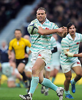 Jamie Roberts of Cambridge University passes the ball. The Varsity Match between Oxford University and Cambridge University on December 10, 2015 at Twickenham Stadium in London, England. Photo by: Patrick Khachfe / Onside Images