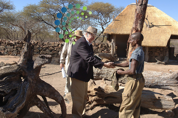 """Writer Alexander McCall Smith in Botswana where the filming of """"The No 1 Ladies Detective Agency"""" is taking place. .Director Anthony Minghella with Lead actress Jill Scott,.Lucian Msamati as JLB Matekoni..Transmition Date: Sunday 23 March 2008, 9pm - 10.45pm, BBC1.The first BBC drama to be filmed entirely on location in Botswana, The No. 1 Ladies' Detective Agency is a charming story chronicling the adventures of Mma Ramotswe..Picture: Universal News And Sport (Scotland).."""