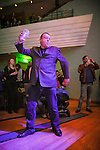 "© Joel Goodman - 07973 332324 . 05/02/2016 . Manchester , UK . Members of the audience dancing . "" Hacienda Classical "" debut at the Bridgewater Hall . The 70 piece Manchester Camerata and performers including New Order's Peter Hook , Shaun Ryder , Rowetta Idah , Bez and Hacienda DJs Graeme Park and Mike Pickering mixing live compositions . Photo credit : Joel Goodman"