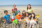 Shane O'Donovan, Aine, Niamh, Eoin, Abeyta, Fionn Magee Carmody, Ellen Abeyta, Priya O'Donovan Fiona Magee and Roisin Abeyta from Kilflynn and Ballyheigue enjoying Ballyheigue Beach in the Sunshine.