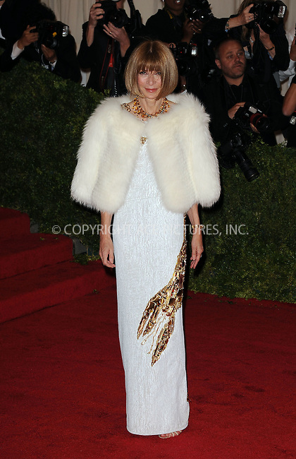 WWW.ACEPIXS.COM . . . . . ....May 7 2012, New York City....Anna Wintour arriving at the 'Schiaparelli And Prada: Impossible Conversations' Costume Institute Gala at the Metropolitan Museum of Art on May 7, 2012 in New York City.....Please byline: KRISTIN CALLAHAN - ACEPIXS.COM.. . . . . . ..Ace Pictures, Inc:  ..(212) 243-8787 or (646) 679 0430..e-mail: picturedesk@acepixs.com..web: http://www.acepixs.com