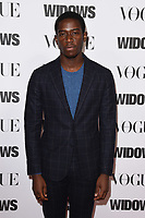 """Damson Idris<br /> arriving for the """"Widows"""" special screening in association with Vogue at the Tate Modern, London<br /> <br /> ©Ash Knotek  D3457  31/10/2018"""