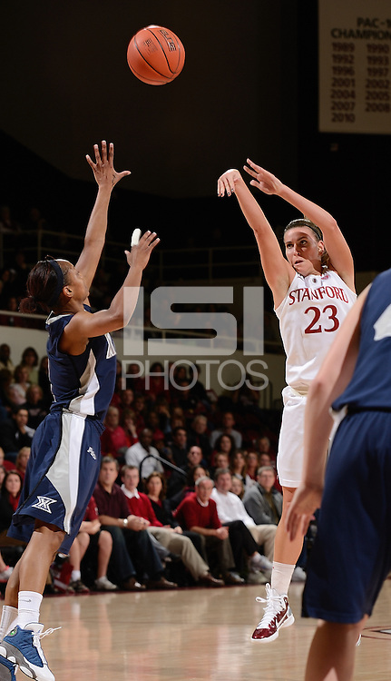 STANFORD, CA - DECEMBER 28: Jeanette Pohlen of Stanford women's basketball puts up a shot in a game against Xavier on December 28, 2010 at Maples Pavilion in Stanford, California.  Stanford topped Xavier, 89-52.