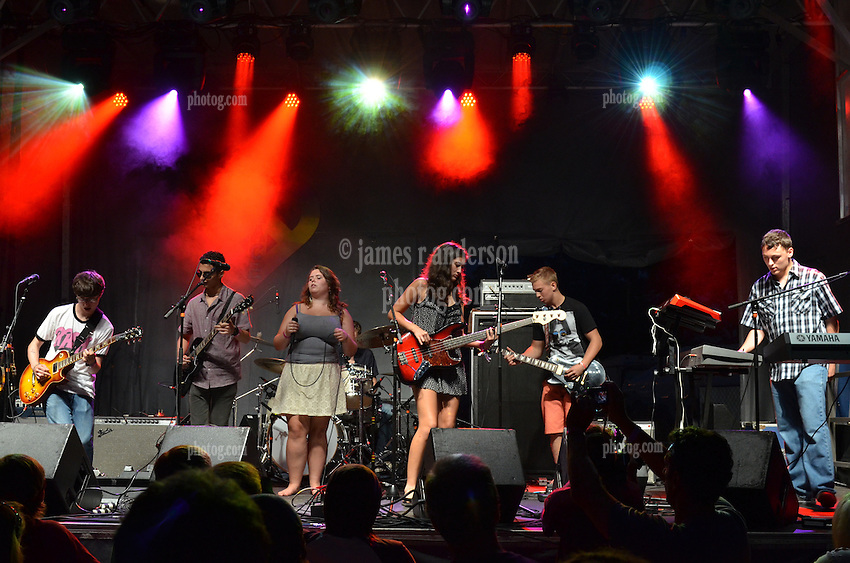 School of Rock at The Gathering of the Vibes Green Stage. 26 July 2013. Seaside Park, Bridgeport Connecticut
