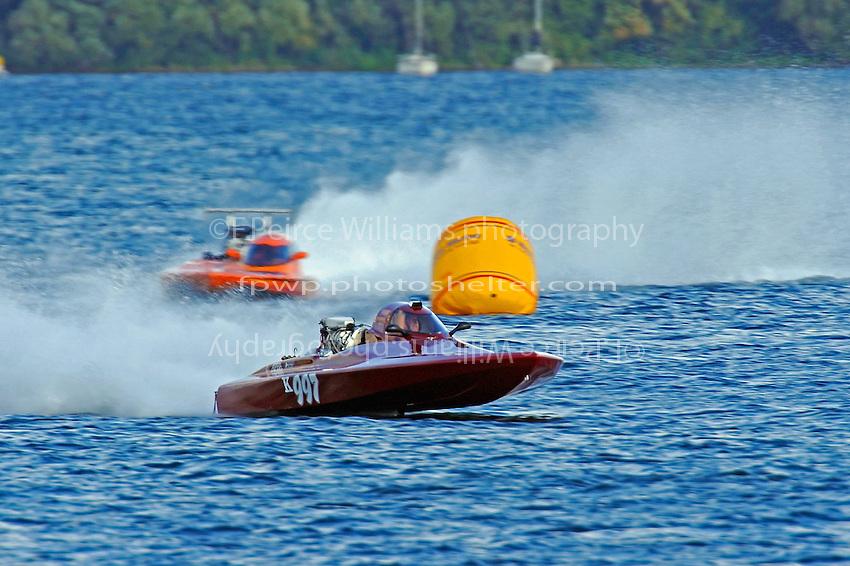 John Brinton, K-997 & Duff Daly, K-999 (K Racing Runabout(s)