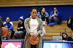 DURHAM, NC - FEBRUARY 01: Georgia Tech assistant coach Jonneshia Pineda. The Duke University Blue Devils hosted the Georgia Tech University Yellow Jackets on February 1, 2018 at Cameron Indoor Stadium in Durham, NC in a Division I women's college basketball game. Duke won the game 77-59.