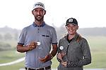 Pieter Zwart and Amelia Garvey, winners of the Autex Muriwai Open, Muriwai Golf Club, Auckland, Sunday 1 May 2016. Photo: Simon Watts/www.bwmedia.co.nz