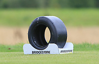Bridgestone tee marker on the 11th during Round 4 of the Bridgestone Challenge 2017 at the Luton Hoo Hotel Golf &amp; Spa, Luton, Bedfordshire, England. 10/09/2017<br /> Picture: Golffile | Thos Caffrey<br /> <br /> <br /> All photo usage must carry mandatory copyright credit     (&copy; Golffile | Thos Caffrey)