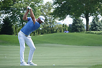 Dustin Johnson (USA) during the third round of the Northern Trust played at Liberty National Golf Club, Jersey City, USA. 10/08/2019<br /> Picture: Golffile | Phil INGLIS<br /> <br /> All photo usage must carry mandatory copyright credit (© Golffile | Phil Inglis)