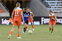 Houston, TX - Sunday June 19, 2016: Mandy Laddish, Morgan Brian during a regular season National Women's Soccer League (NWSL) match between the Houston Dash and FC Kansas City at BBVA Compass Stadium.