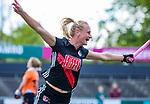 AMSTELVEEN  -  Charlotte Vega (A'dam)  heeft gescoord,  Hoofdklasse hockey dames ,competitie, dames, Amsterdam-Groningen (9-0) .     COPYRIGHT KOEN SUYK