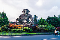 Bali, Gianyar. The huge baby monument where the roads to Ubud and Gianyar splits.