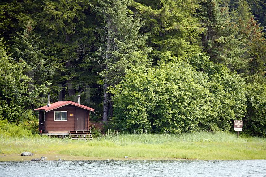 Double Bay Recreation Cabin, Prince William Sound, Cordova, Chugach National Forest, Alaska.