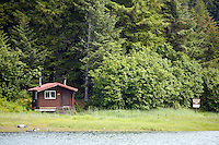 Double Bay Recreation Cabin, Prince William Sound, Cordova, Chugach National Forest, Alaska.