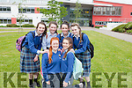 Students from Coláiste Ide & Iosef Abbeyfeale who sat the Junior Certificate on Wednesday.  Front: Diane O' Connor and Ella Fitzgerald. Back: Aoife Curtin , Ciara Hunt , Alanna Collins, Louise Harnett.