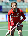 The Hague, Netherlands, June 13: Okju Kim #17 of Korea looks on during the field hockey placement match (Women - Place 7th/8th) between Korea and Germany on June 13, 2014 during the World Cup 2014 at Kyocera Stadium in The Hague, Netherlands. Final score 4-2 (2-0)  (Photo by Dirk Markgraf / www.265-images.com) *** Local caption ***