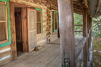 "James Villines was known as ""Beaver Jim"" for his renowned trapping ability.  ""Beaver Jim's"" homestead.  The  log house originally built in 1850 with additional outbuildings and a barn."