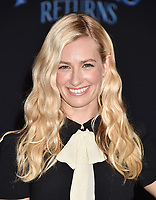 LOS ANGELES, CA - NOVEMBER 29: Beth Behrs attends the Premiere Of Disney's 'Mary Poppins Returns' at El Capitan Theatre on November 29, 2018 in Los Angeles, California.<br /> CAP/ROT/TM<br /> &copy;TM/ROT/Capital Pictures