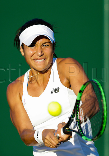 29.06.2015.  Wimbledon, England. The Wimbledon Tennis Championships.  Ladies' Singles first round match between thirty second seed Caroline Garcia (FRA) & Heather Watson (GBR).  Heather Watson in action