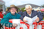 Looking for winners at the Cahersiveen races on Sunday last were l-r; Tom Browne from Dingle and Paddy Cournane from Cahersiveen a long time supporter of the local meeting.