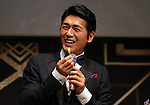 """May 20, 2016, Tokyo, Japan - Japanese actor Katsunori Takahashi eats a piece of cheese for the opening of """"Aperitif 365"""" event in Tokyo on Friday, May 20, 2016. Thousands of visitors are expecting to enjoy aperitifs and hors d'oeuvres at the three-day event for the promotion of French foods and drinks.  (Photo by Yoshio Tsunoda/AFLO) LWX -ytd-"""