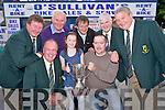 Pictured at the launch of the Owen O'Sullivan Cup sponsorship by O'Sullivans cycles and Outdoor Stores, Killarney, on Friday evening were Dermot Griffin, East Kerry Board, Kate O'Sullivan, Conn O'Sullivan, Pa Doyle, East Kerry Board, Dermot and Davd O'Sullivan, Pat Delaney and Tim Ryan, East Kerry Board.