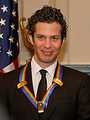 Thomas Kail, one of the special honorees for Groundbreaking Work on Hamilton, as he poses with the recipients of the 41st Annual Kennedy Center Honors pose for a group photo following a dinner hosted by United States Deputy Secretary of State John J. Sullivan in their honor at the US Department of State in Washington, D.C. on Saturday, December 1, 2018.  The 2018 honorees are: singer and actress Cher; composer and pianist Philip Glass; Country music entertainer Reba McEntire; and jazz saxophonist and composer Wayne Shorter. This year, the co-creators of Hamilton,­ writer and actor Lin-Manuel Miranda; director Thomas Kail; choreographer Andy Blankenbuehler; and music director Alex Lacamoire will receive a unique Kennedy Center Honors as trailblazing creators of a transformative work that defies category.<br /> Credit: Ron Sachs / Pool via CNP