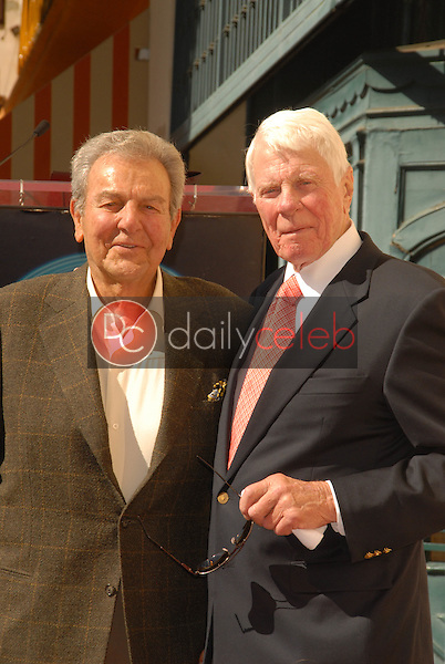 Mike Connors and Peter Graves<br /> at the Hollywood Walk of Fame induction ceremony for Peter Graves, Hollywood, CA. 10-30-09<br /> David Edwards/Dailyceleb.com 818-249-4998