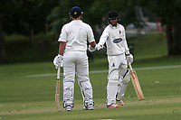 J Sorrell and K Scarlioli of Hornchurch during Hornchurch CC (batting) vs Billericay CC, Shepherd Neame Essex League Cricket at Harrow Lodge Park on 8th June 2019