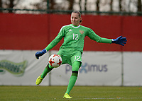 20171125 - TUBIZE , BELGIUM : Russian goalkeeper Alena Belyaeva pictured during the friendly female soccer game between the Belgian Red Flames and Russia , Saturday 25 th November 2017 at the Belgian FA Euro 2000 Center in Tubize , Belgium. PHOTO SPORTPIX.BE   DAVID CATRY