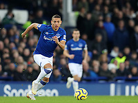 26th December 2019; Goodison Park, Liverpool, Merseyside, England; English Premier League Football, Everton versus Burnley; Richarlison of Everton runs forward with the ball  - Strictly Editorial Use Only. No use with unauthorized audio, video, data, fixture lists, club/league logos or 'live' services. Online in-match use limited to 120 images, no video emulation. No use in betting, games or single club/league/player publications