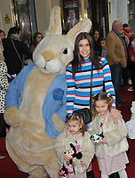 "Imogen Thomas with her children Ariana Siena Horsley, Siera Aleira Horsley at the ""Where Is Peter Rabbit?"" musical press night, Theatre Royal Haymarket, Suffolk Street, London, England, UK, on Tuesday 09th April 2019.<br /> CAP/CAN<br /> ©CAN/Capital Pictures"