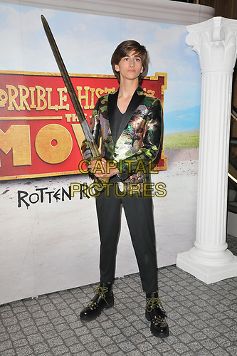 """Sebastian Croft at the """"Horrible Histories: The Movie - Rotten Romans"""" world film premiere, Odeon Luxe Leicester Square, Leicester Square, London, England, UK, on Sunday 07th July 2019.<br /> CAP/CAN<br /> ©CAN/Capital Pictures"""