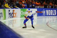 SCHAATSEN: HEERENVEEN: 14-12-2014, IJsstadion Thialf, ISU World Cup Speedskating, Pavel Kulizhnikov (RUS), ©foto Martin de Jong