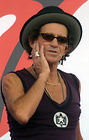 "Keith Richards<br /> ROLLING STONES PRESS CONFERENCE <br /> TO ANNOUNCE THEIR UPCOMING <br /> ""THE ROLLING STONES ON STAGE WORLD TOUR"". LINCOLN CENTER, NEW YORK 05-10-2005<br /> Photo By John Barrett/PHOTOlink"