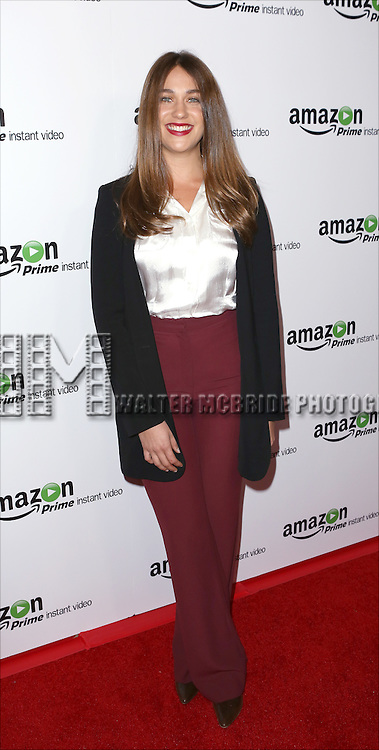 Lola Kirke attending the Amazon Red Carpet Premiere for 'Mozart in the Jungle' at Alice Tully Hall on December 2, 2014 in New York City.