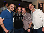 Paul Sheerin, Keith Mulalley, Daniel Nulty and David Andrews from St Oliver's Community College at their Class of '97 reunion in McHugh's. Photo:Colin Bell/pressphotos.ie