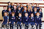 Enjoying their first day in Ms Crowleys class in Ardfert NS on Monday.