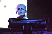 MIAMI BEACH, FL - FEBRUARY 12: Nick Rhodes of Duran Duran performs at the Fillmore on February 12, 2019 in Miami Beach, Florida. Credit Larry Marano © 2019