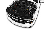 Car stock 2016 Chevrolet Suburban 1500 LS 5 Door SUV engine high angle detail view