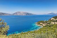 The beach Dichala in Kefalonia island, Greece